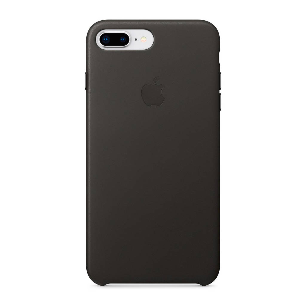 Apple iPhone 8 Plus / 7 Plus leren backcover, houtskoolgrijs