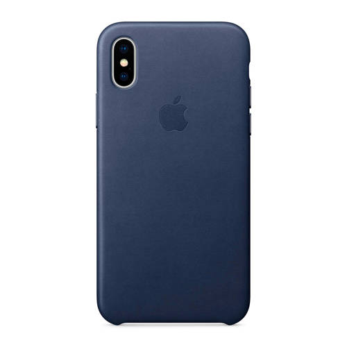 APPLE Leather Case iPhone X Blauw