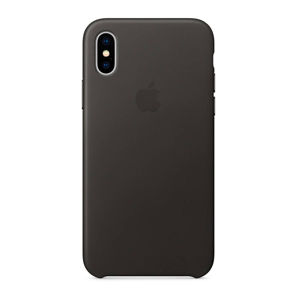 Apple iPhone X leren backcover, houtskoolgrijs