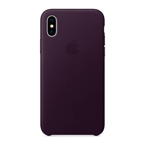 APPLE Leather Case iPhone X Paars
