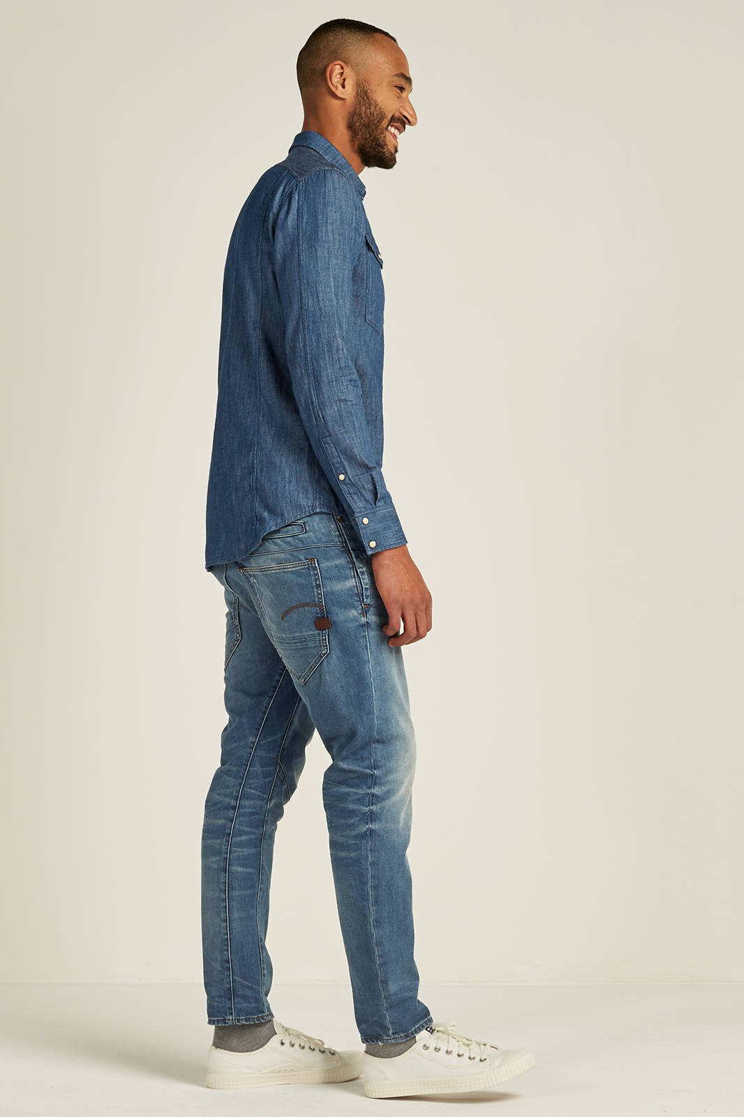 D Staq 3D tapered fit jeans