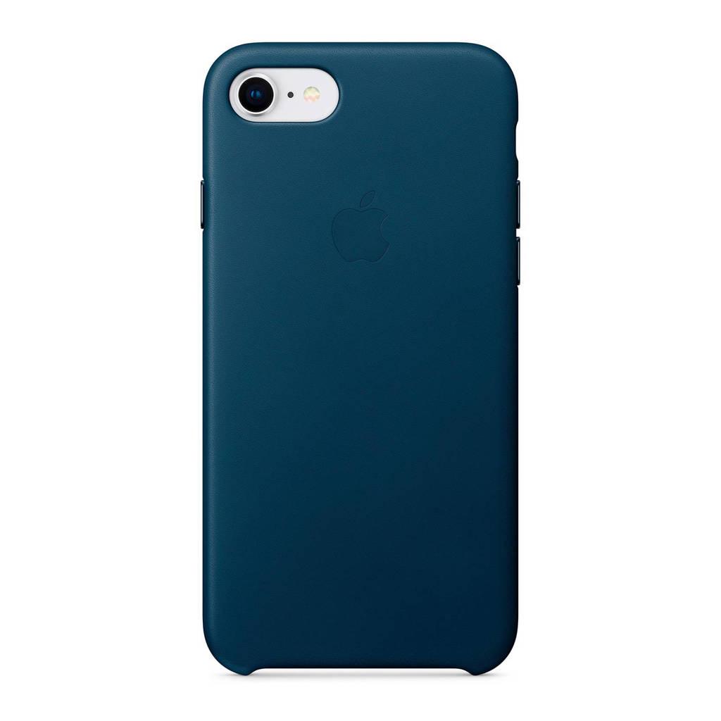 Apple iPhone 8 / 7 leren backcover, Kosmosblauw