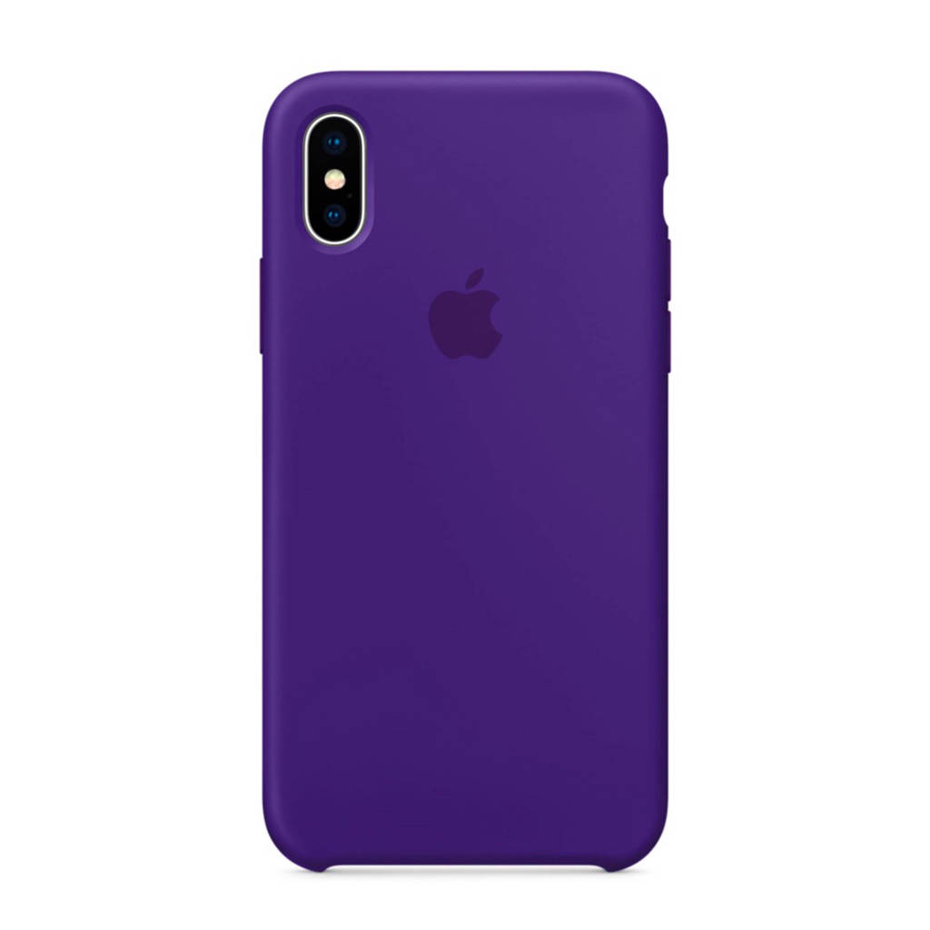 Apple iPhone X backcover, Paarsblauw