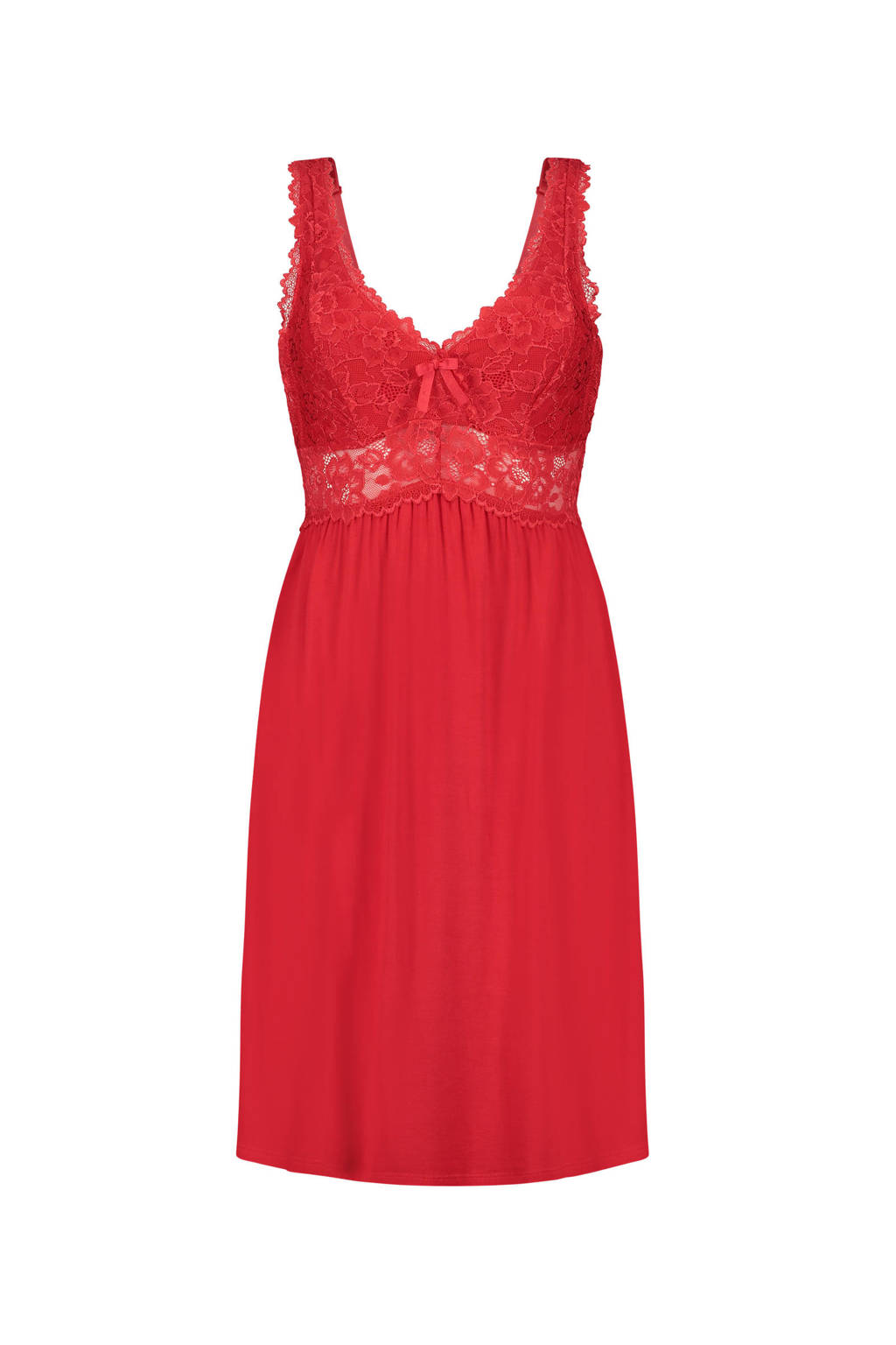 Core collection other slipdress Modal Lace rood, Rood