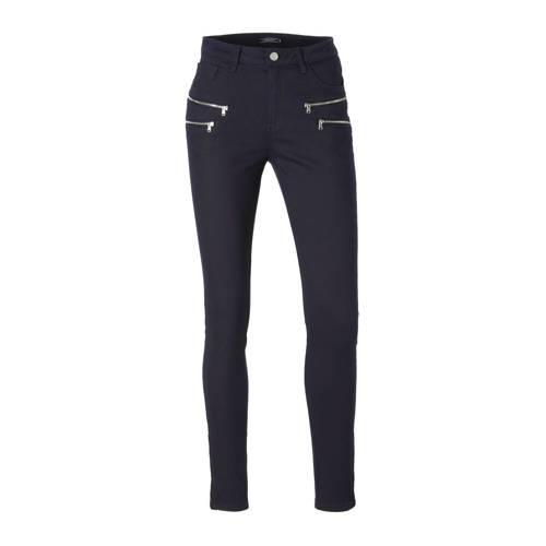 FREEQUENT 7/8 skinny fit broek met ritsen