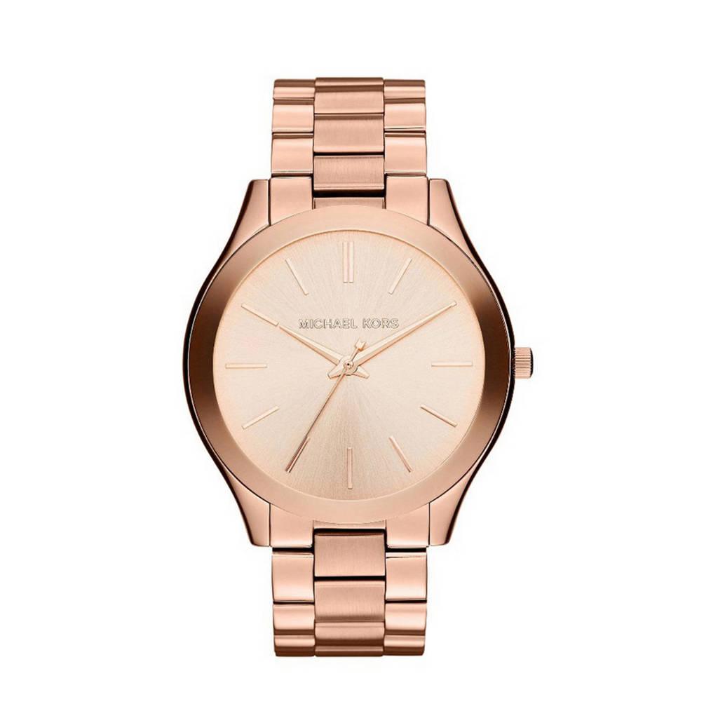 Michael Kors Slim Runway horloge - MK3197, Rose goud