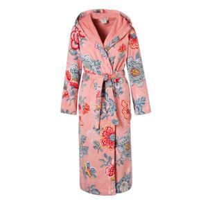 badstof badjas met capuchon roze