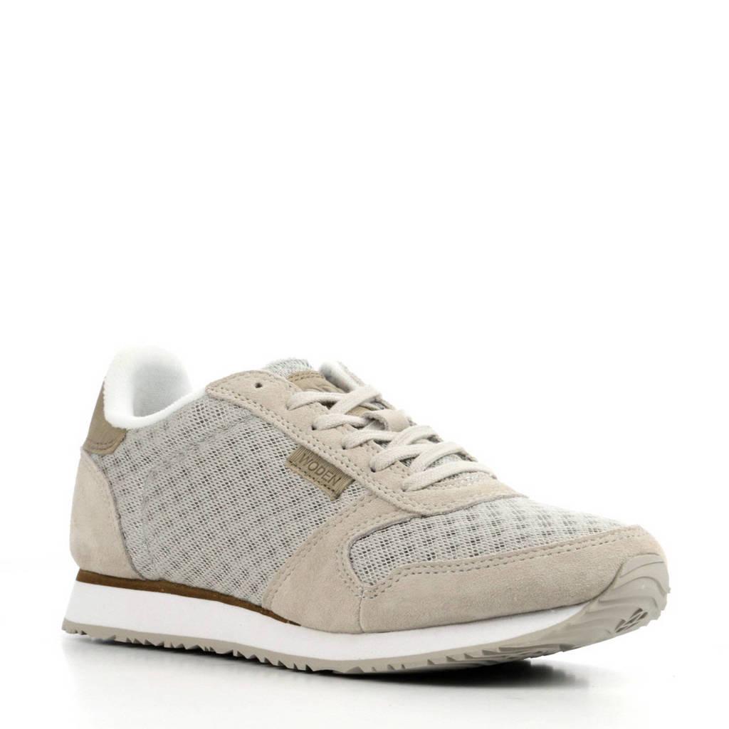 Woden   Ydun sneakers met suède, Grijs/beige