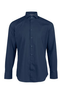 WE Fashion x Van Gils slim fit overhemd marineblauw (heren)