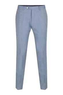 x Van Gils Highbury geruite slim fit pantalon met wol