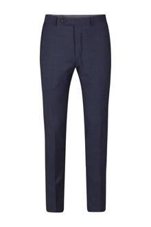 x Van Gils slim fit pantalon met wol marine