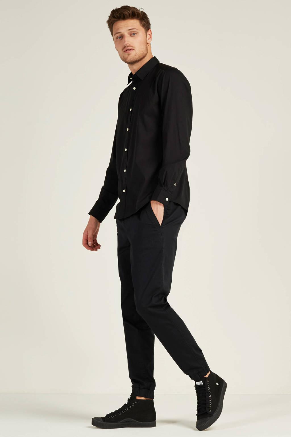 ESPRIT Men Casual slim fit overhemd, Zwart