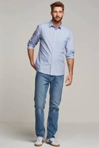 ESPRIT Men Casual straight fit overhemd, Blauw/wit
