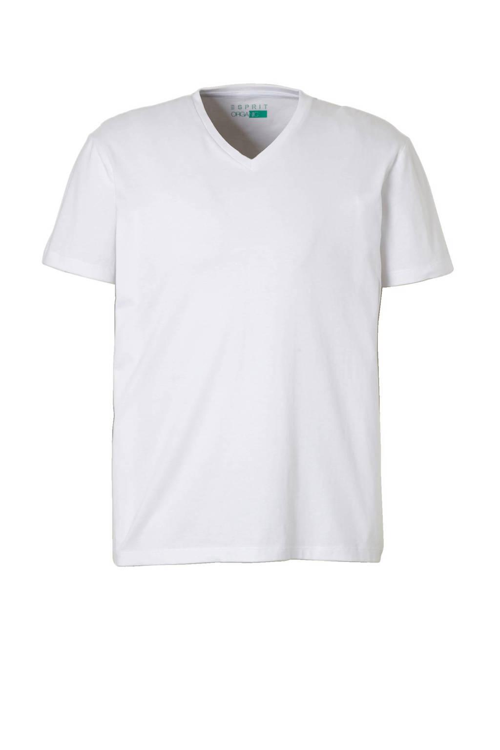 ESPRIT Men Casual T-shirt, Wit