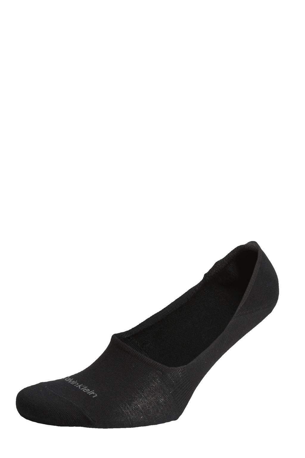 CALVIN KLEIN sneakersokken - 2 paar, Zwart/grijs