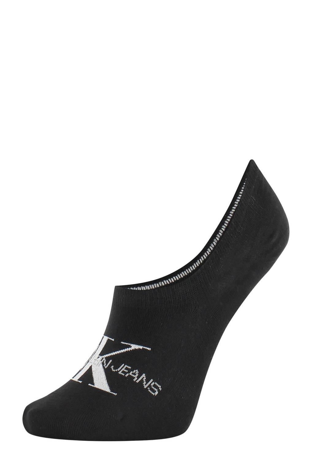 CALVIN KLEIN no-show sneaker sokken, Zwart/wit