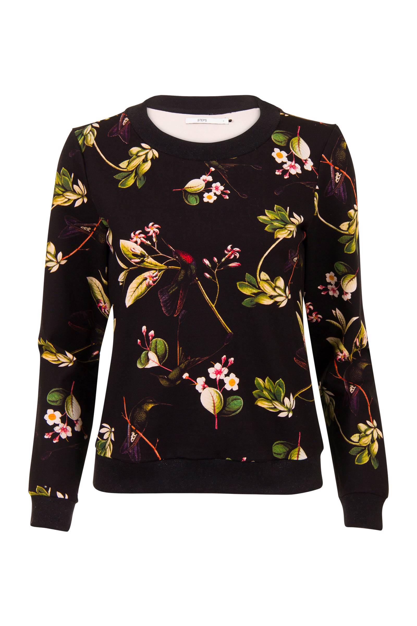 d7bcddc28f4 Steps sweater met bloemenprint   wehkamp