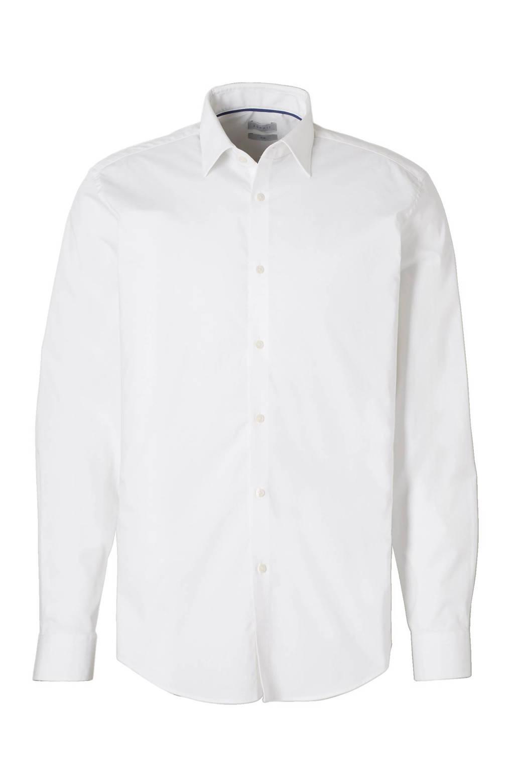 ESPRIT Men Collection slim fit overhemd, Wit