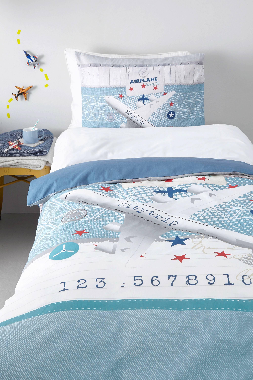 sleeptime katoenen dekbedovertrek 1 persoons blauw