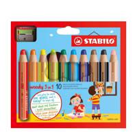STABILO Woody potloden incl. puntenslijper (10 st.)