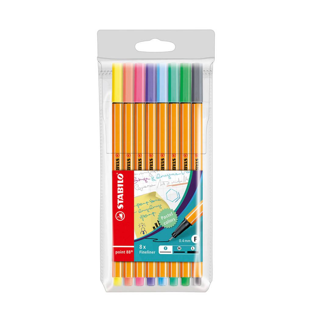 STABILO point 88 fineliners (8 st.), pastel