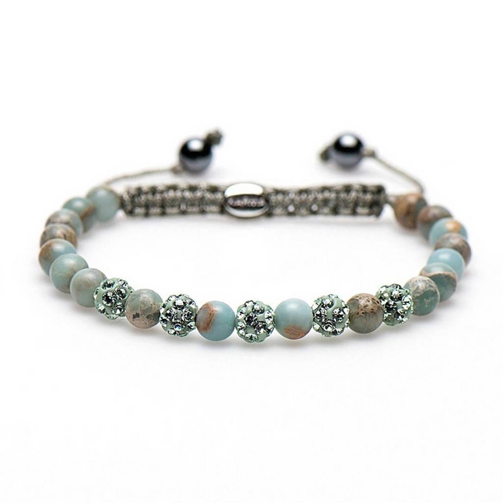 Karma armband - 83030, Blauw/groen