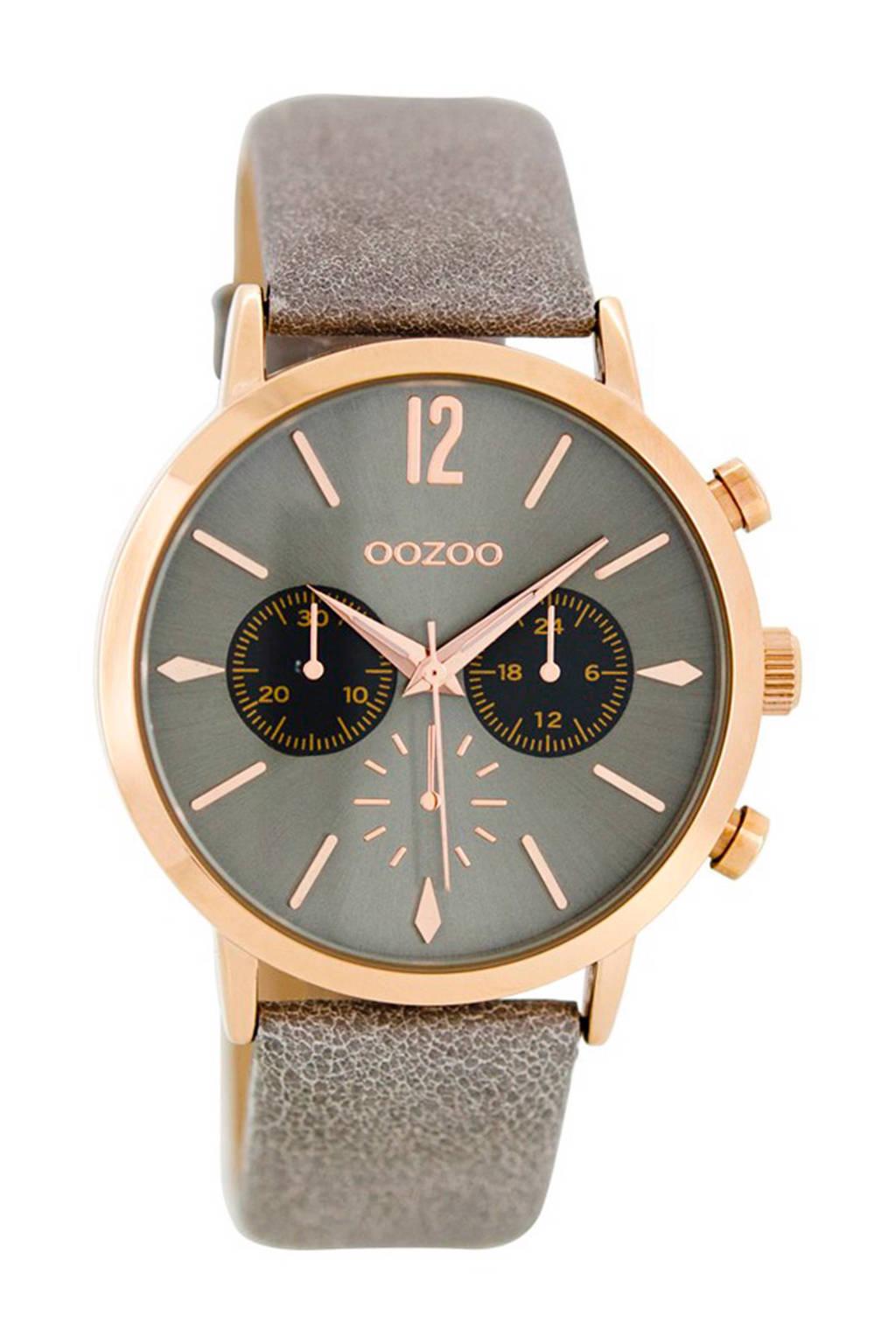 OOZOO Timepieces chronograaf - C8520, Taupe/rose goud