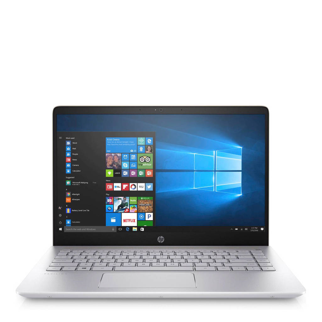 HP Pavilion Notebook 14-bf001nd 14 inch Full HD laptop, Goud, Zilver