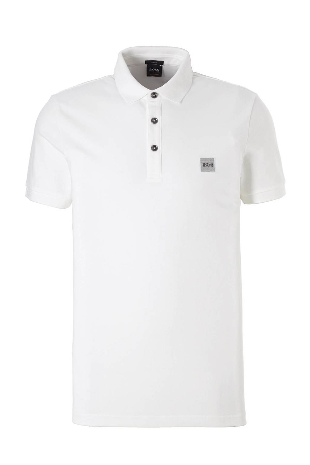 BOSS Casual Passenger slim fit polo, Wit