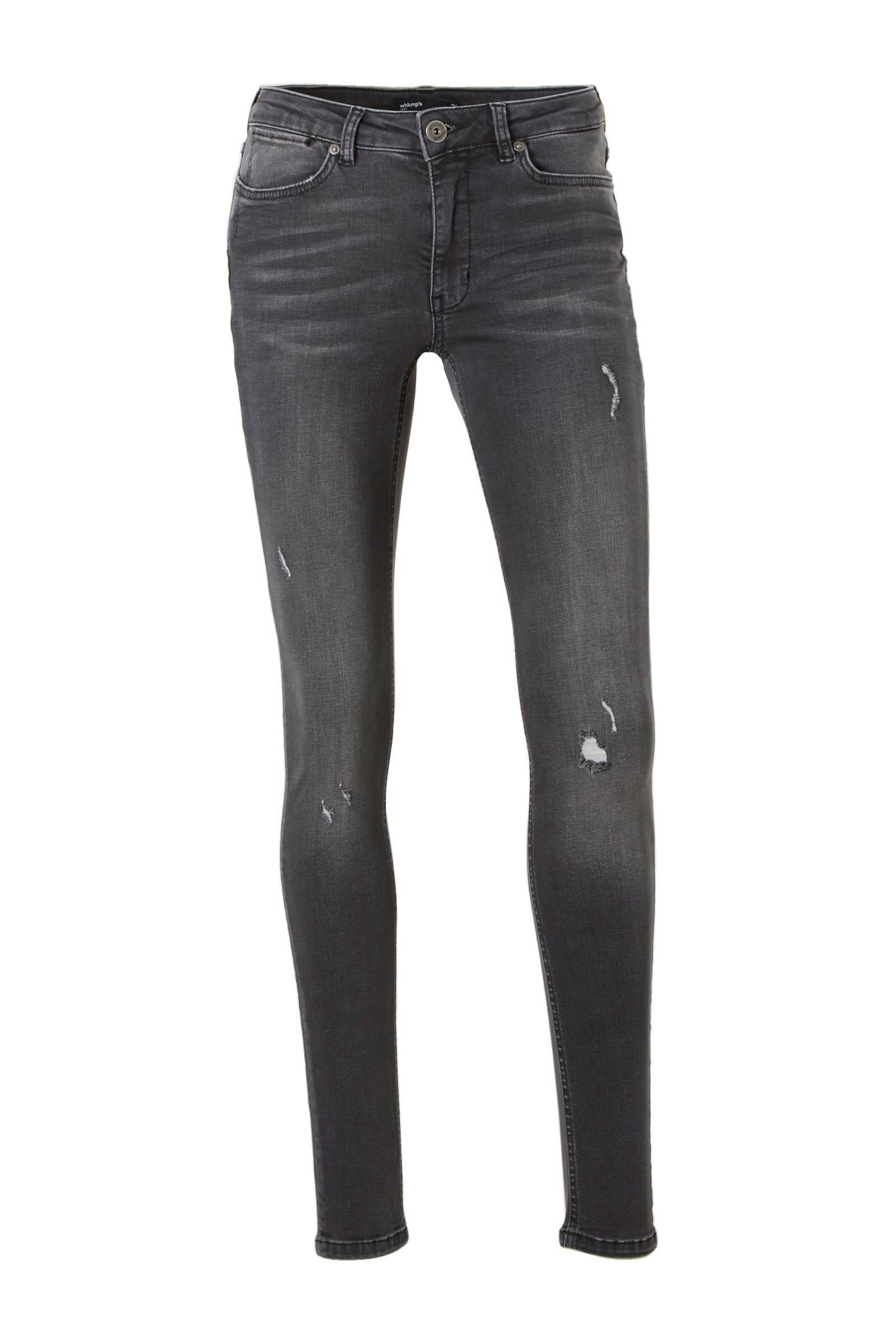 whkmp's own super comfort skinny denim met destroy (dames)