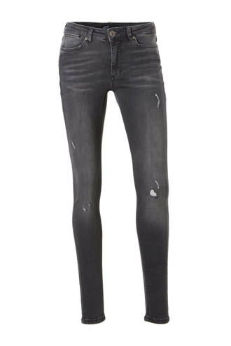 super comfort skinny denim met destroy