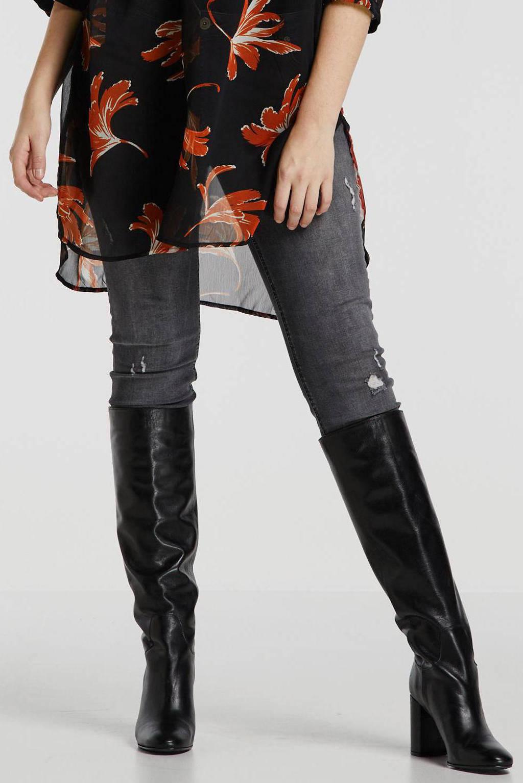 wehkamp super comfort basic skinny denim, Zwart