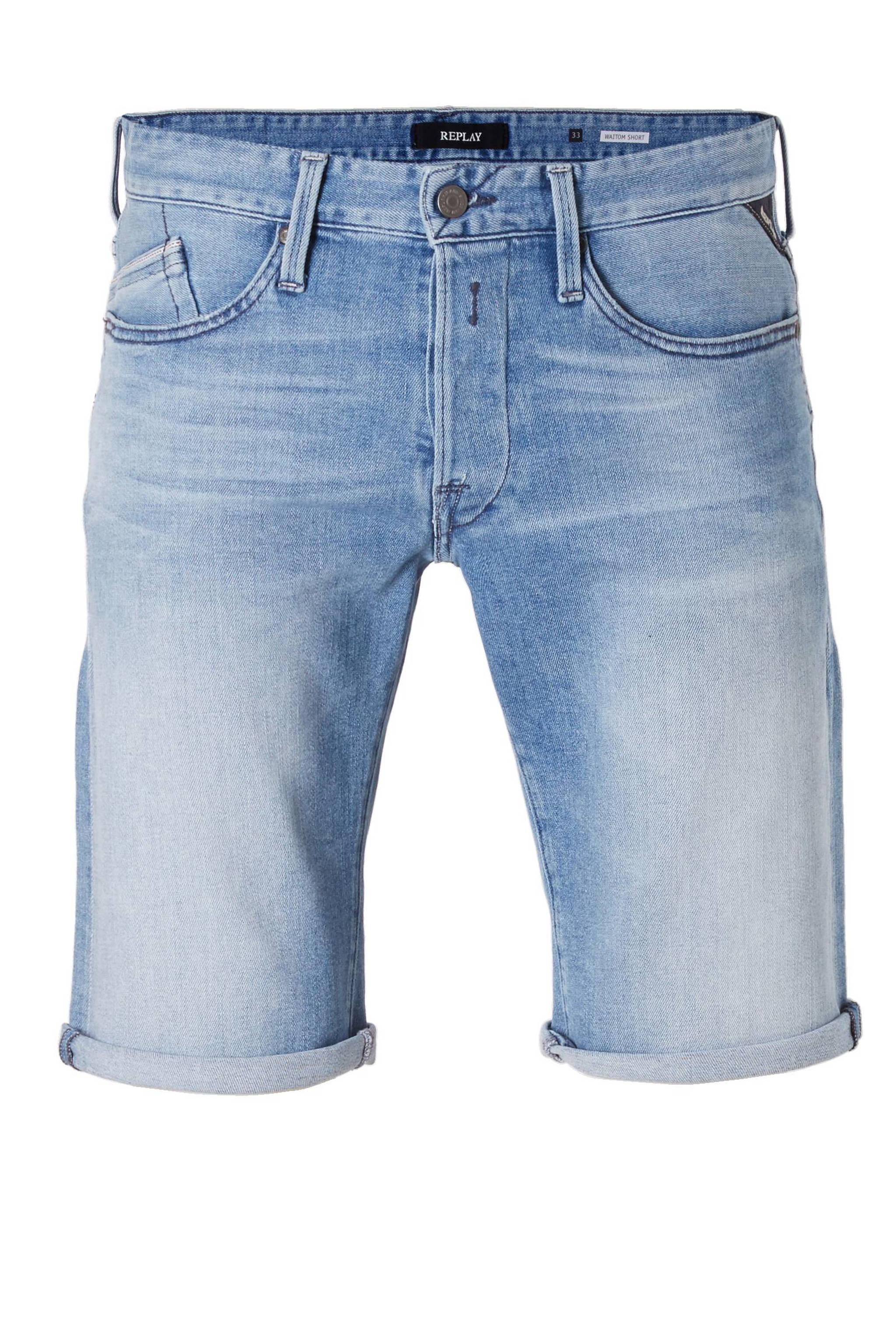 Replay Korte Broek Heren.Replay Slim Fit Jeans Short Waitom Wehkamp