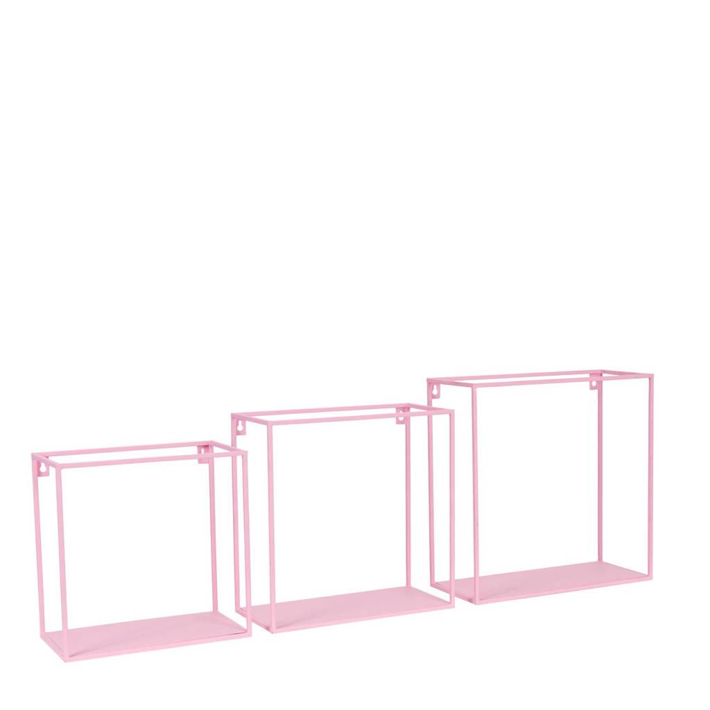 Kidsdepot wandplank (set van 3), Roze