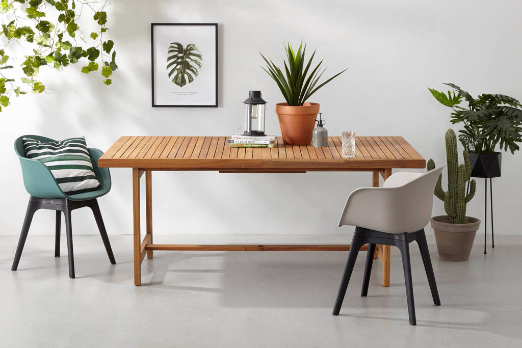 whkmp's own uitschuifbare tuintafel Northwood (180/230x110 cm), Naturel