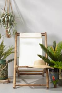 whkmp's own strandstoel Santa Cruz, Naturel met gebroken wit doek