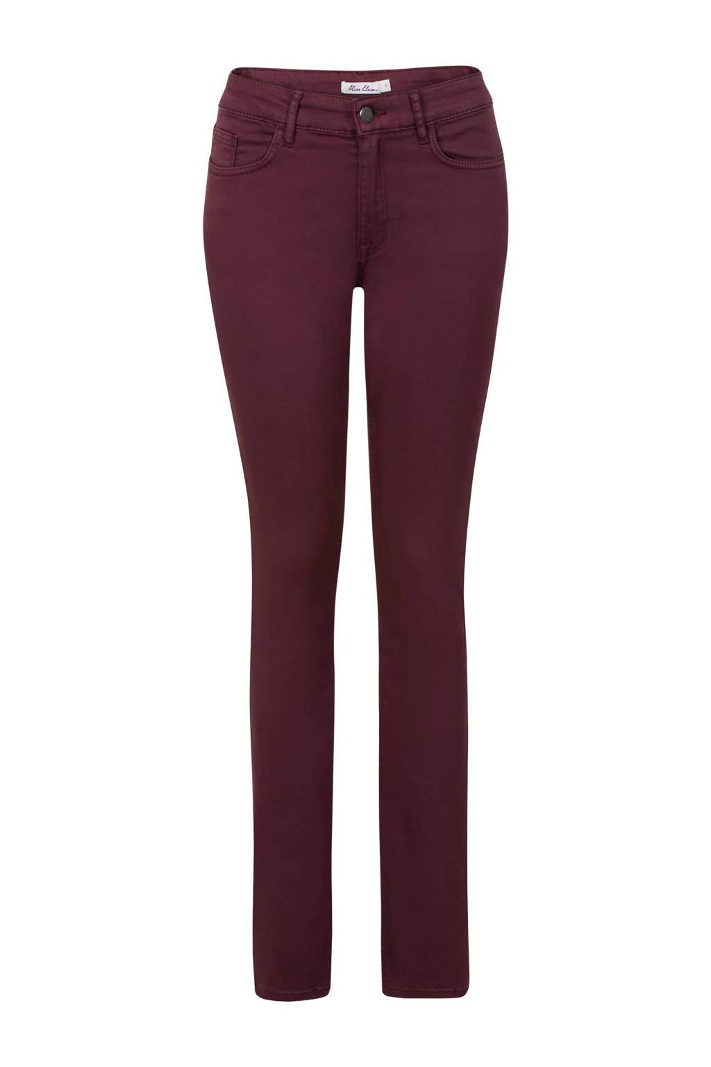 Miss Etam Regulier slim fit broek 32 inch, Donkerrood