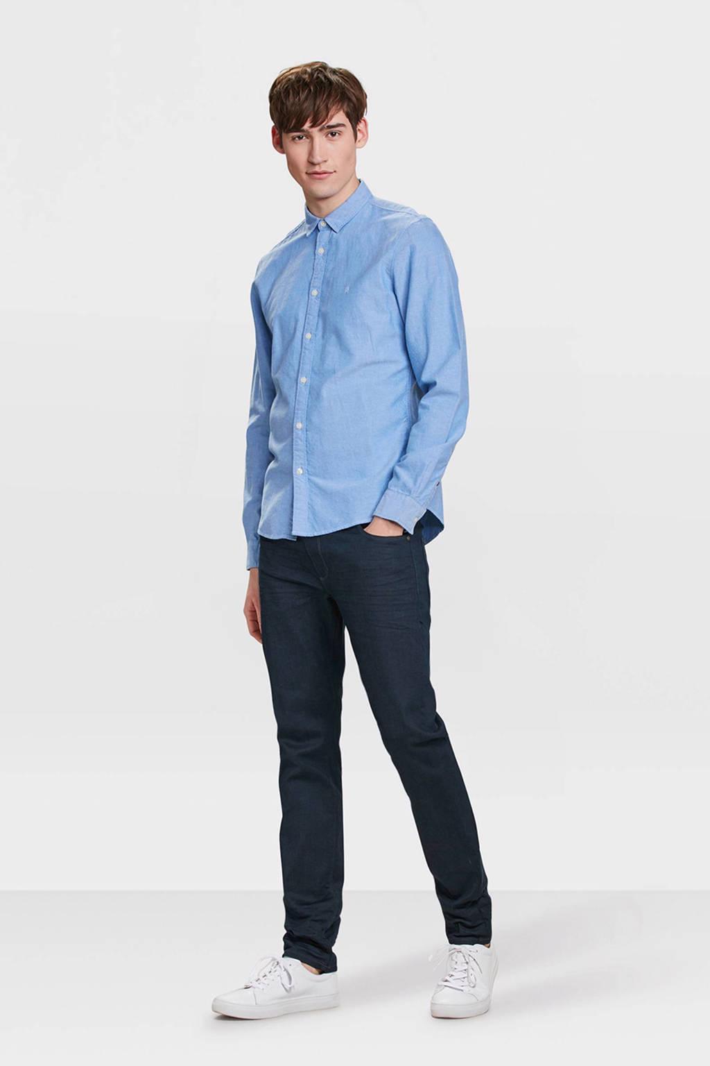 WE Fashion Blue Ridge slim fit jeans, middenblauw