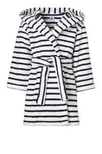 Petit Bateau   badjas, Wit/donkerblauw