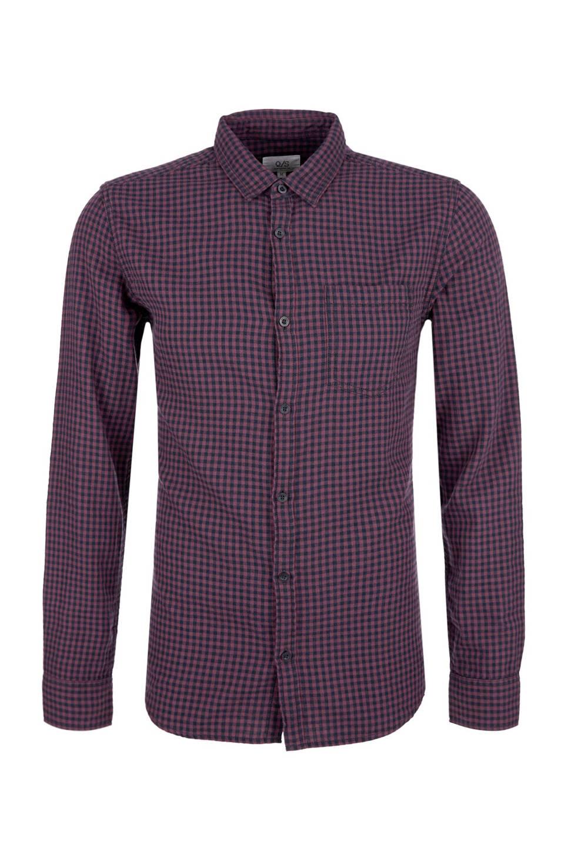 Paars Heren Overhemd.Q S Designed By Slim Fit Overhemd Wehkamp