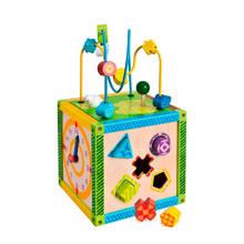houten kleuren speelbox