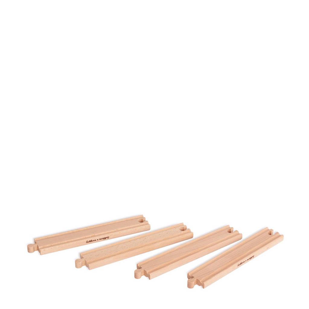 Eichhorn houten lange rechte rails