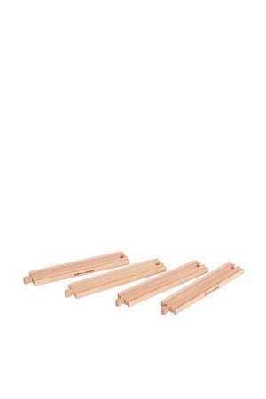 houten lange rechte rails