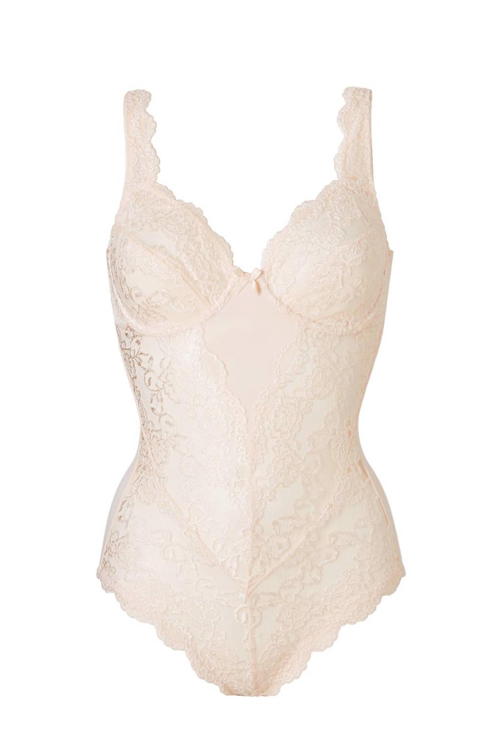 Sassa Mode corrigerende body Classic Lace met kant ecru, Ecru