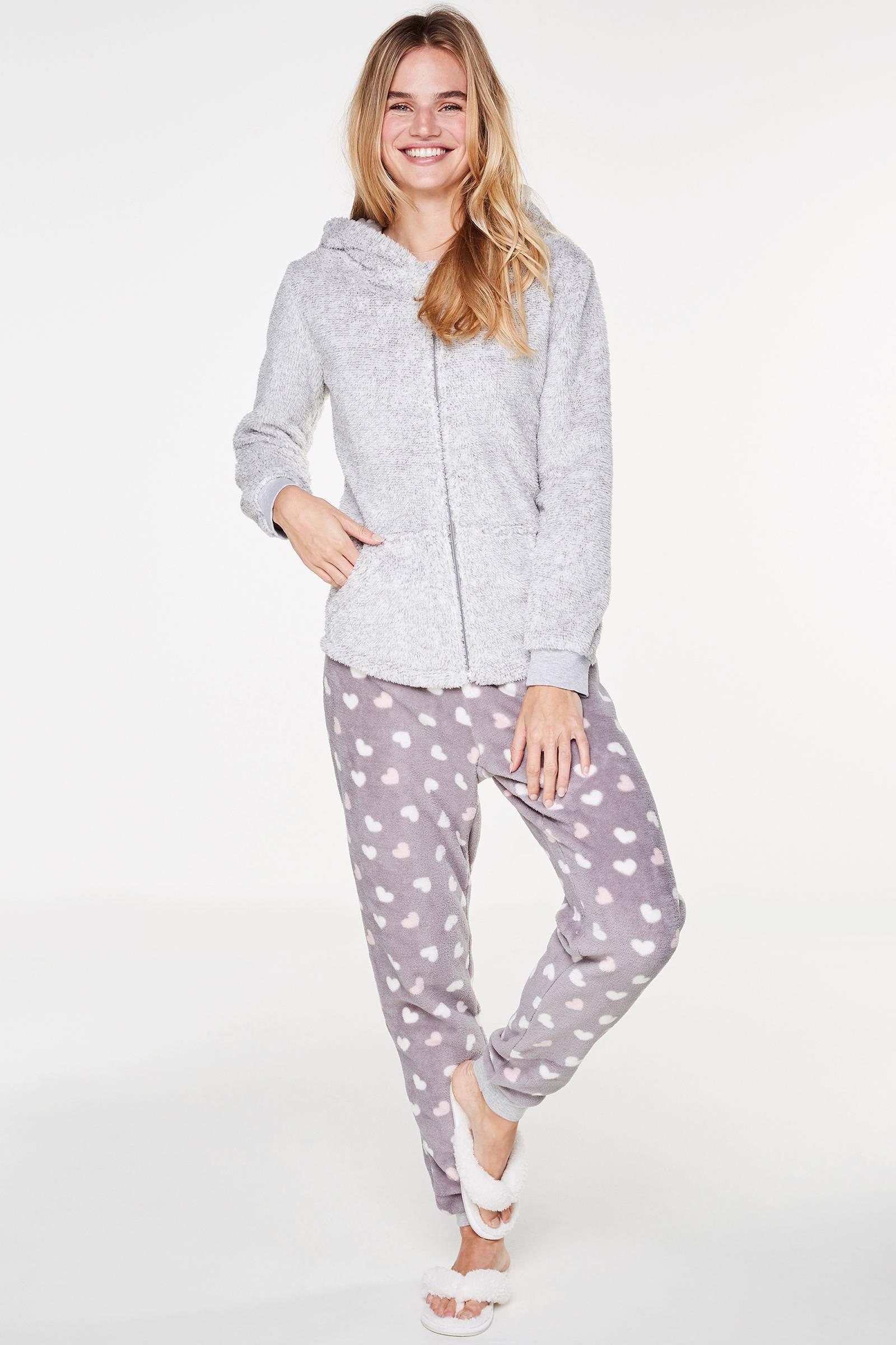 Hunkemöller fleece pyjamabroek | wehkamp
