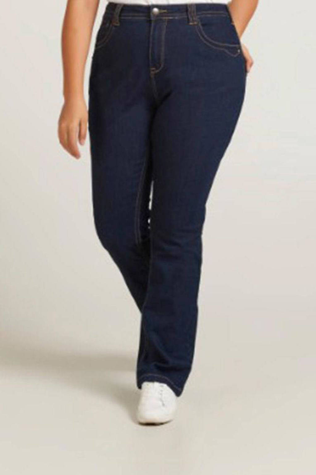 Zizzi high waist slim fit jeans donkerblauw denim