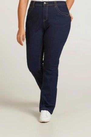 high waist slim fit jeans donkerblauw denim