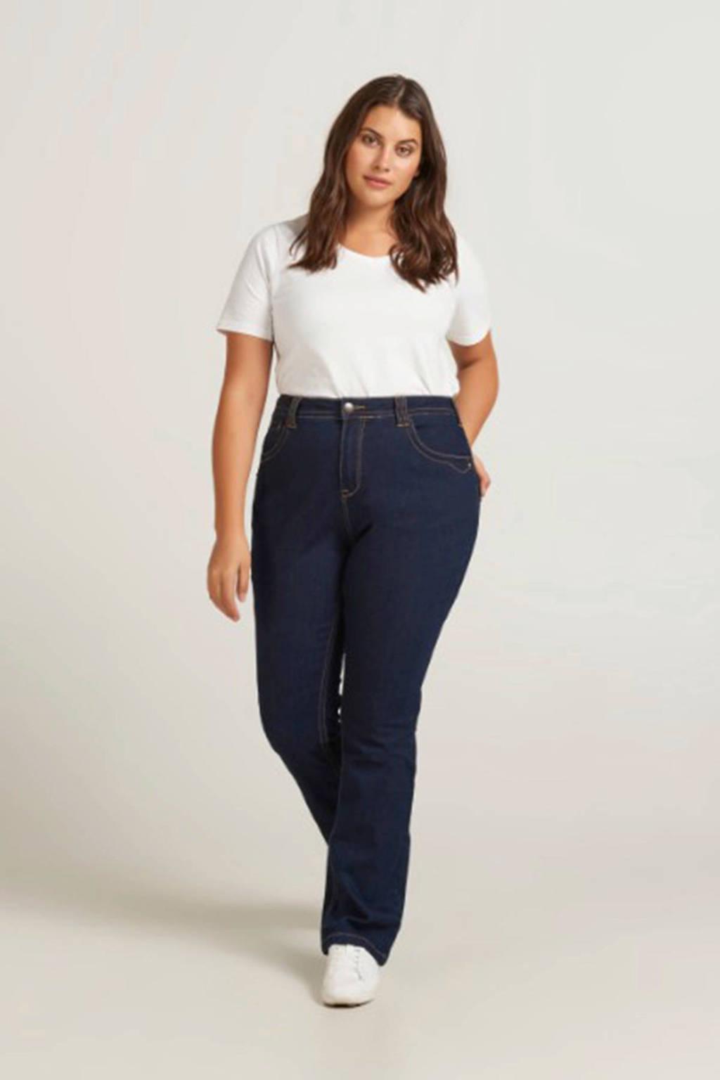 Zizzi slim fit jeans donkerblauw, donkerblauw denim