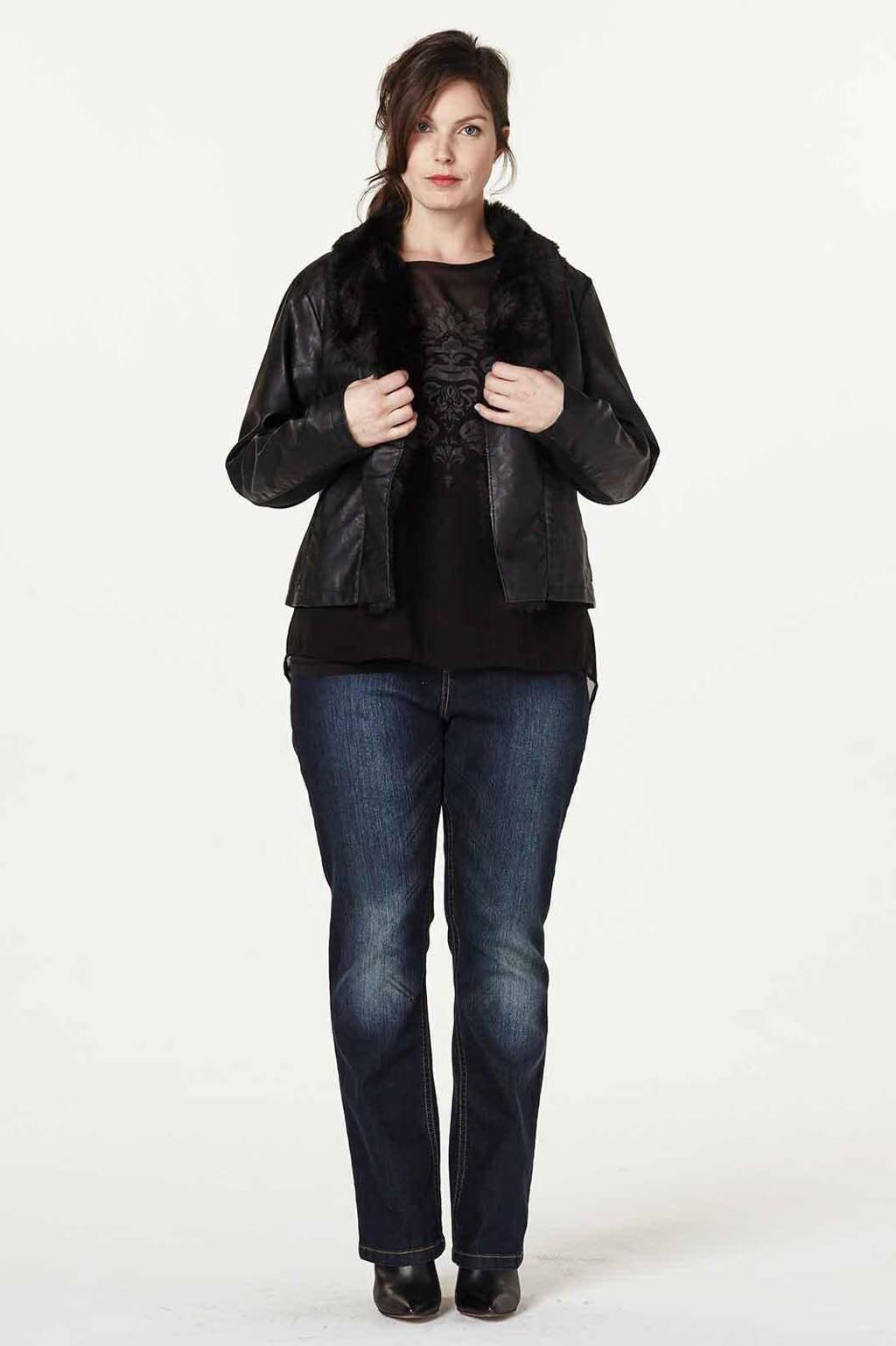 Zizzi jeans, donkerblauw denim