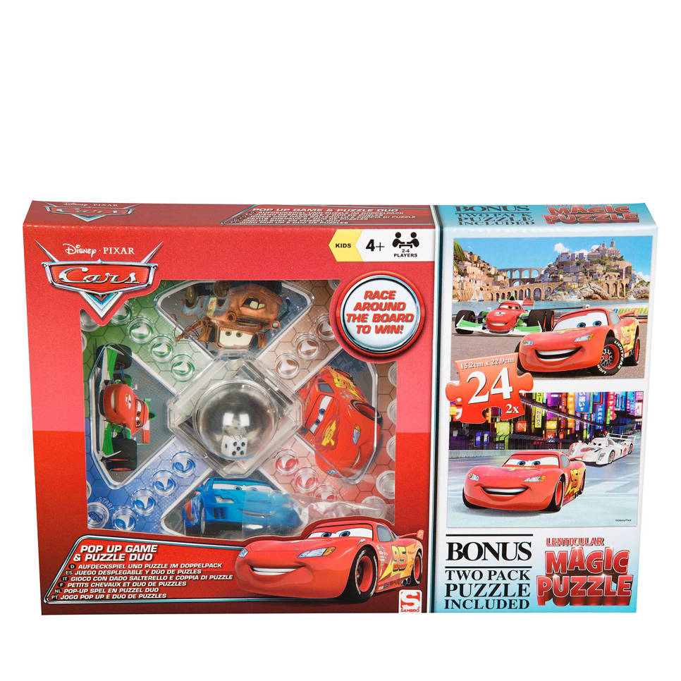 Disney Cars mens erger je niet  legpuzzel 48 stukjes